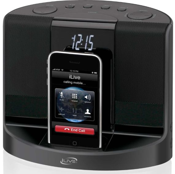 iLive iCP601 Clock Radio with Docking and Recharging
