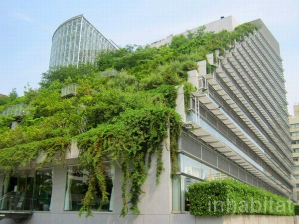 Green-Roofed Pyramid Planted With Trees Acros Green Roofed Pyramid Japan