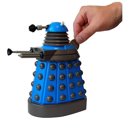 Doctor Who 3D Blue Dalek Molded Money Bank