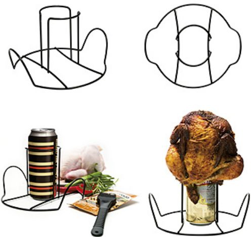 Brat BBQ & Grill holder for chickens