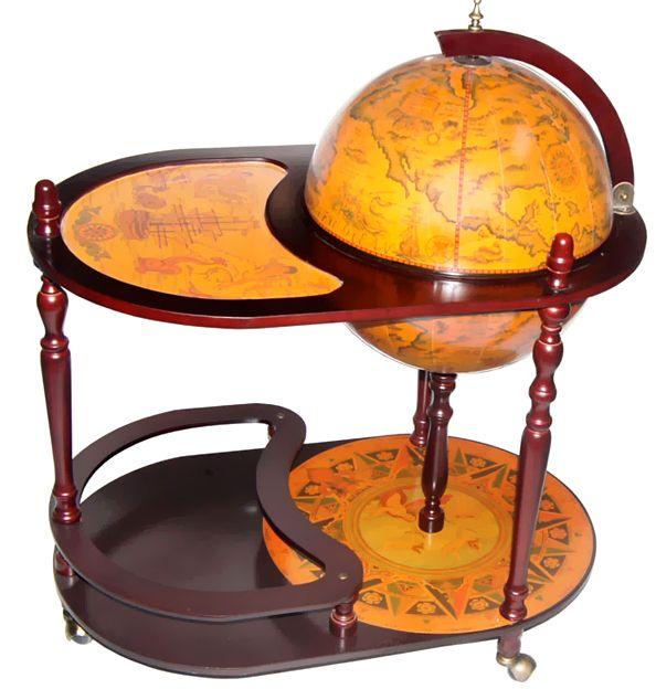 "Arezzo Italian Style 17.5"" Trolley Globe Bar"