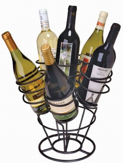 6-Bottle Bouquet Wine Rack