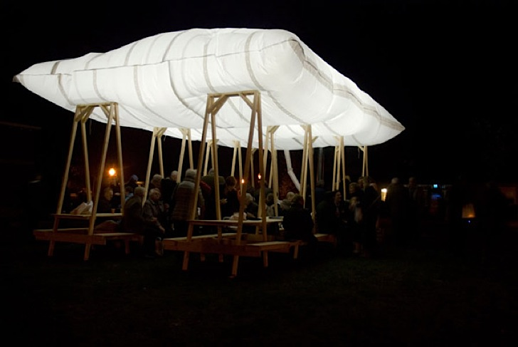 Ephemeral All Soul's Day Pillow Pavilion Puffs Up Using BBQ Smoke