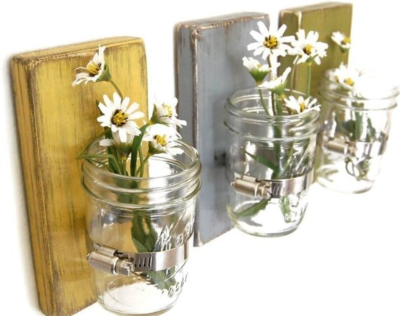 Flower wall vase Cottage Decor