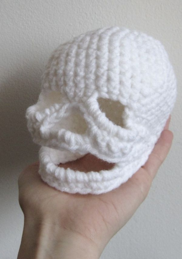Shakespearean Crocheted Skull