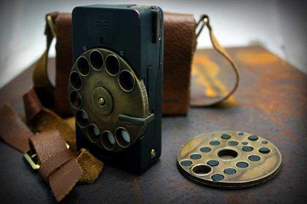 Steampunk Rotary Smartphone in Digital Era!