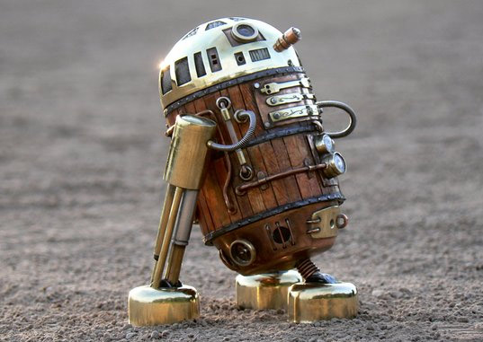 Steampunk R2-D2 Robot Recycled Materials