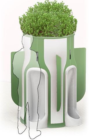 Public Urinal Feeds Plants With Pee