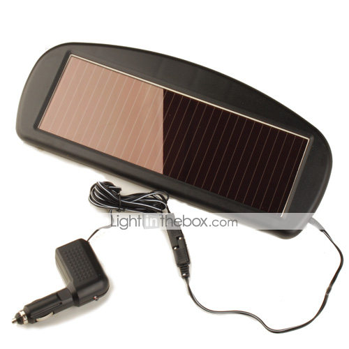12V Solar Car Battery Charger Auto with Waterproof casing