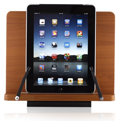 CaseCrown Dual Adjustable Multimedia Multi-Purpose Wood Stand