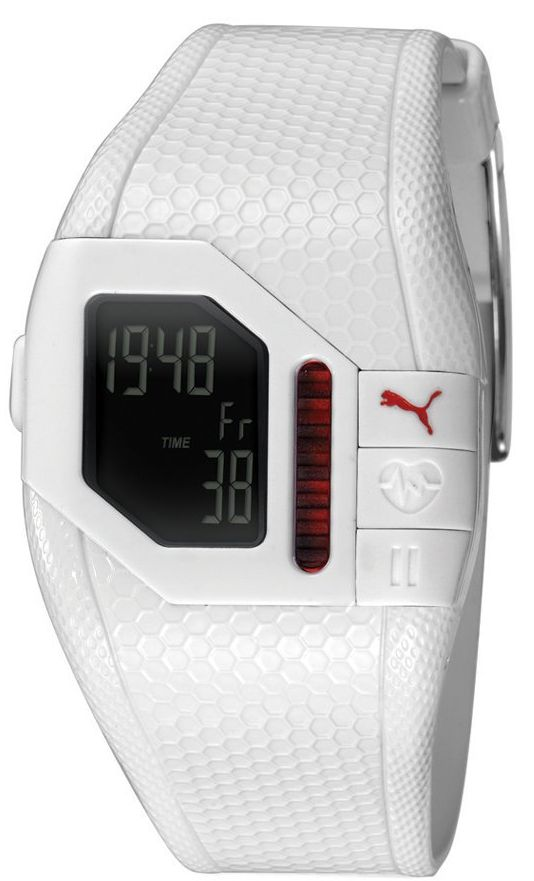 PUMA Unisex Cardiac Plus White Heart Rate Monitor Watch