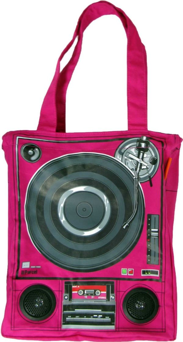 Loop Wheels of Steel Vinyl LP Bag with Working Speakers