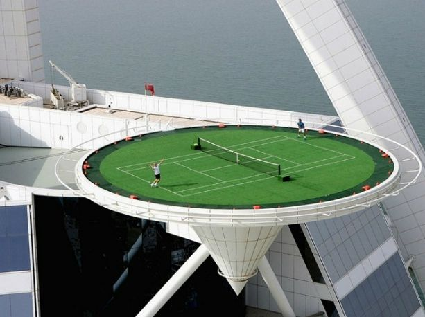Bridgette Meinhold World's Highest Tennis Court