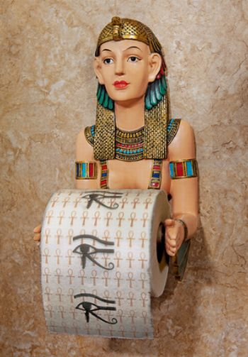 Egyptian Priestess A-Kah-Kah-Loo Bath Tissue Holder