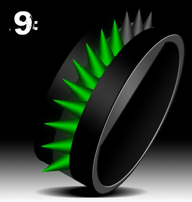 Cyberpunk Strap LED Watch Design