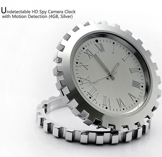 Undetectable HD Spy Camera Clock with Motion Detection