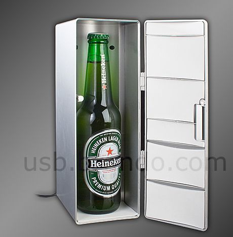 USB Fridge-Shaped Cooler and Warmer