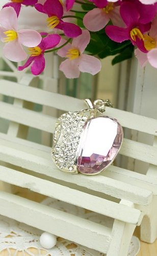Water Diamond Apple Jewelry USB Flash Drive