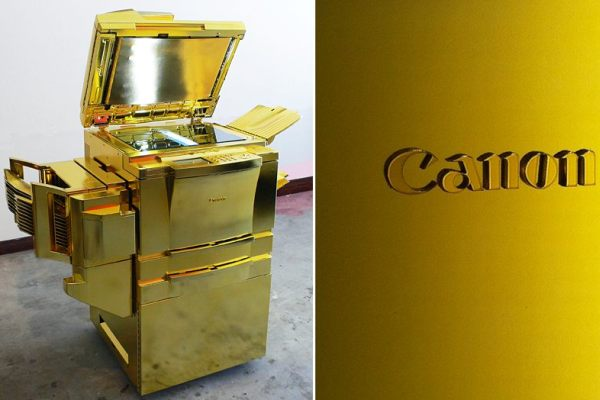 Gold plated copier machine