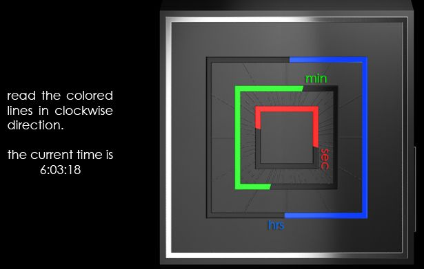 RGB Squared Analog LED Watch Design