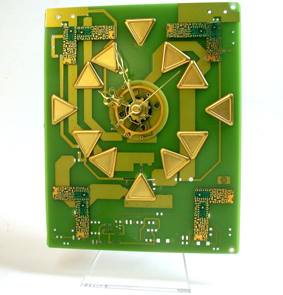 RECYCLED CIRCUIT BOARD Geekery Desk Clock