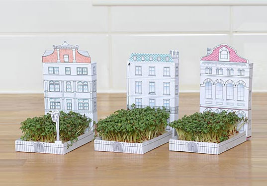 Miniature Paper House That Grows a Garden