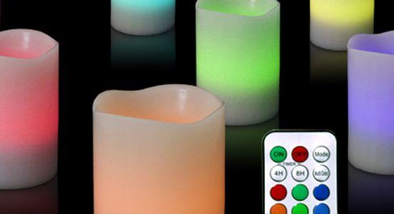 Prismate LED candles