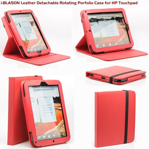 i-BLASON Executive Portfolio Red Leather Case Cover Stand