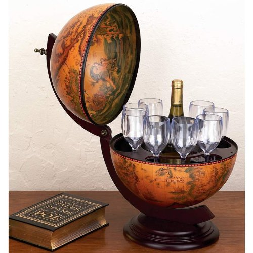 Deal:13 inch Diameter Italian Replica Globe Bar