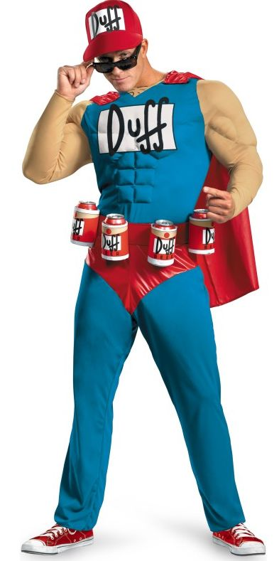 The Simpsons – Duffman Classic Muscle Adult Costume