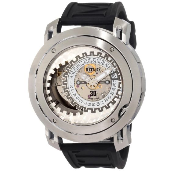 Ritmo Mundo Men's 202 SS Persepolis Dual-Time Exhibition Automatic Watch