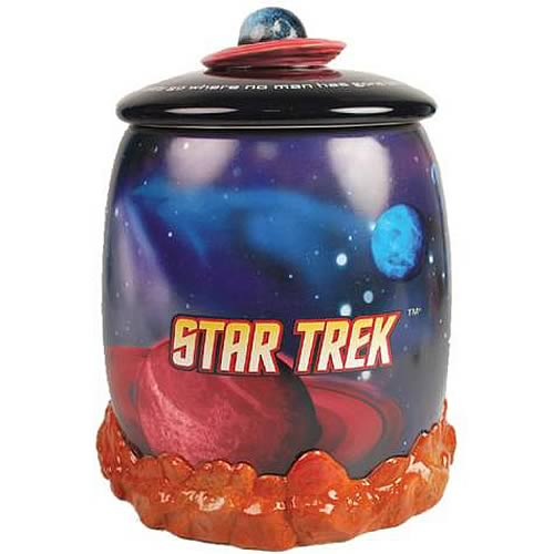 Star Trek Enterprise in Space Cookie Jar