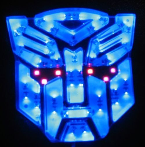 High-light LED Transformers Autobots Car Emblem Blue