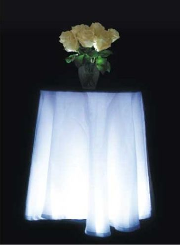 MultiPurpose White LED Table Skirt Light