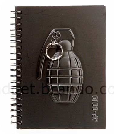 3D Grenade Cover with 01 Notebook