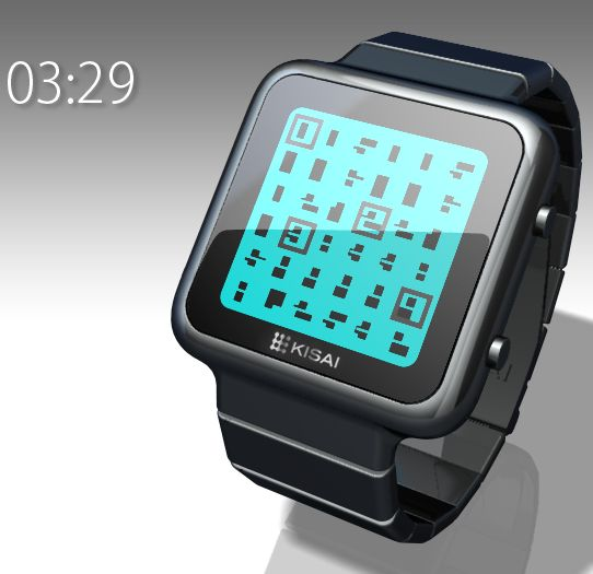 A Colored LCD Watch Design With Hidden Numbers