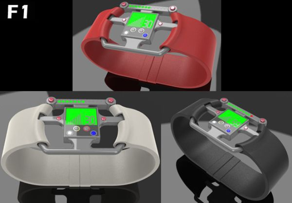 Concept LCD LED Watch Design