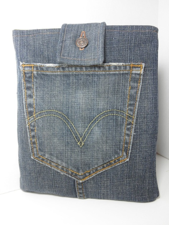 Recycled Denim iPad Case Sleeve
