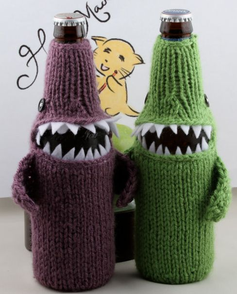 Beer Bottlenose Shark Cozy