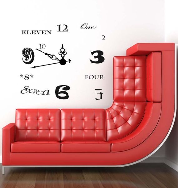Clock vinyl wall decal