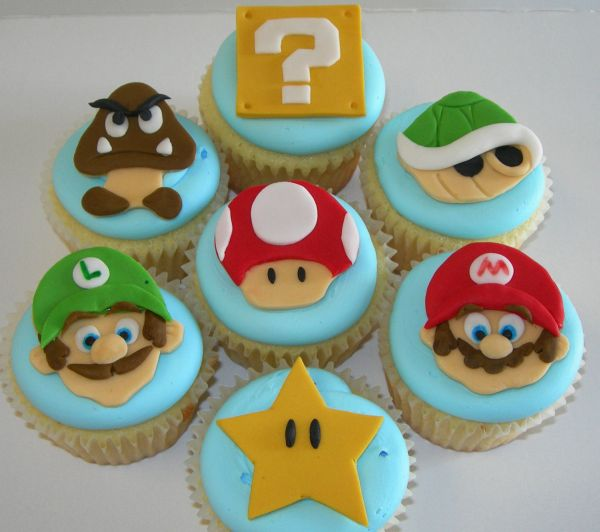 Super Mario Cupcake and Cookie Topper