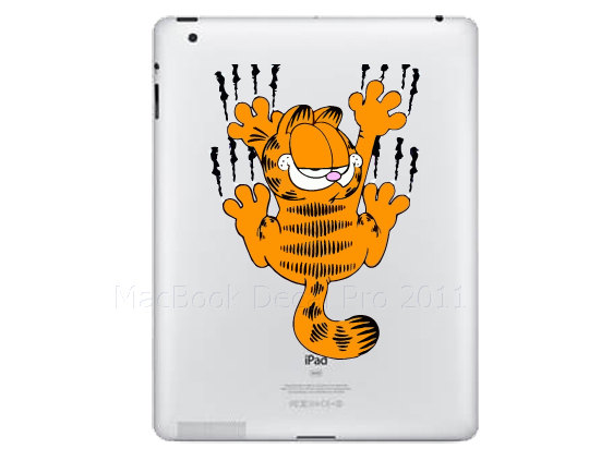Garfield Apple iPad Decal Sticker Mac