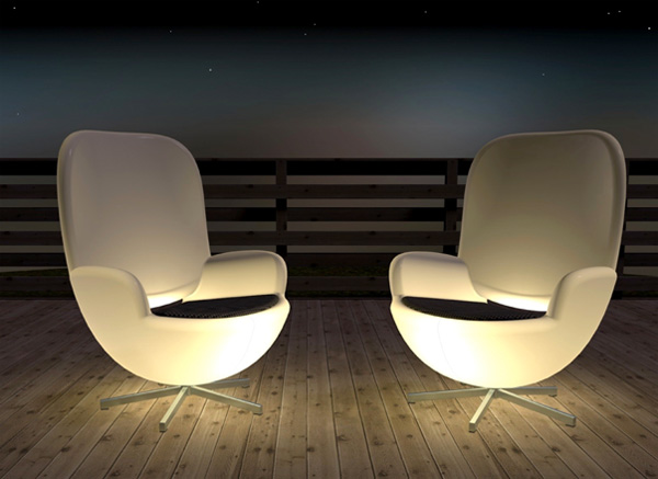 Terrace Chair is Illuminating
