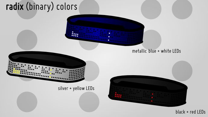 Binary Shinshoku LED Watch Design