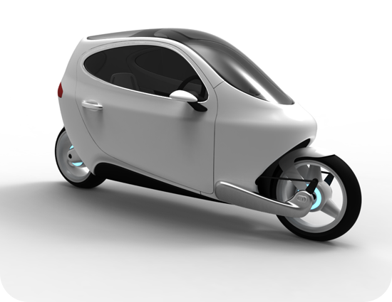 Lit Motors unveils concept, all-electric