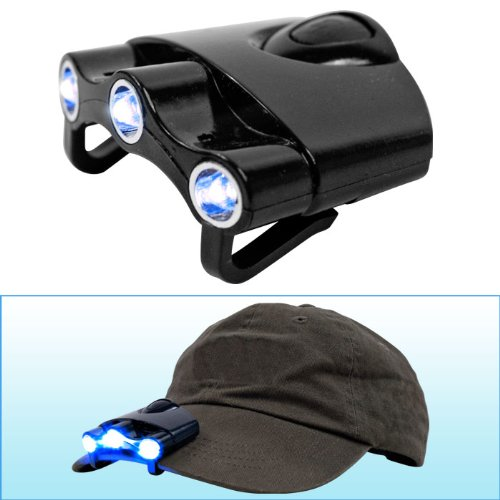 Happy CamperT 3 LED Flashlight for Cap or Visor