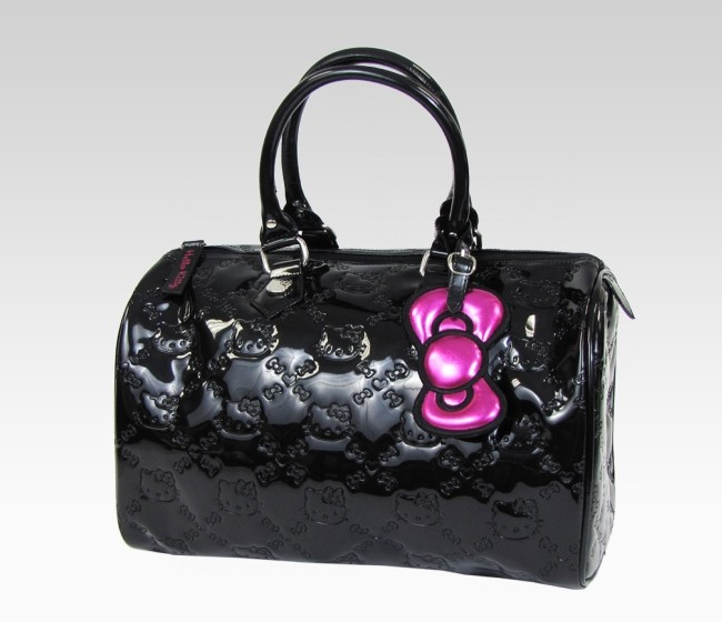 Hello Kitty Black City Patent Handbag