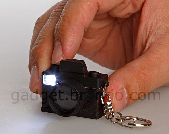 Keychain Retro LED Camera