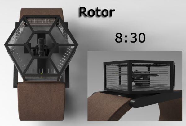 Rotor Analog Watch Design