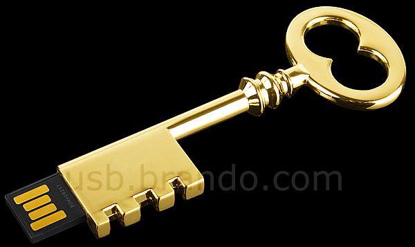 USB Metallic Key Flash Drive